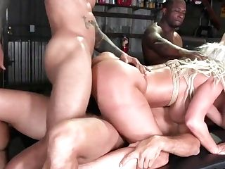 Meaty Tits Cougar Double Penetration Banged In Suspension