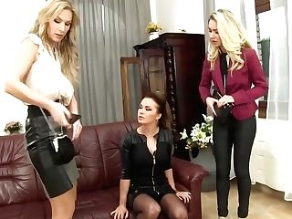 Victoria Puppy And Carol Like To Piss All Over Burgla, Because It Excites Them A Lot
