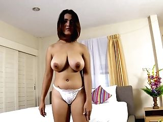 Unexperienced Thai Gal With D-cups Funbags Gets Fucked And Creampied