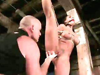 Big Tittied Brown-haired Rachel Starr Is Fucked In Torment Room By Horny Bald Headed Dude
