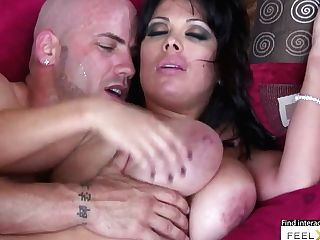 Black-haired Cougar Gets Horny, Taunts And Gets Her Vag Fucked