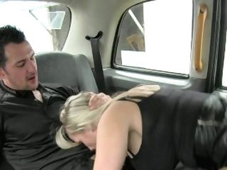 Femalefaketaxi Dirty Driver Guzzles Copper's Rod
