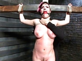 Youthful Fuckslut With Gigantic Natural Tits Gets Demolished By Grueling Restraint Bondage.