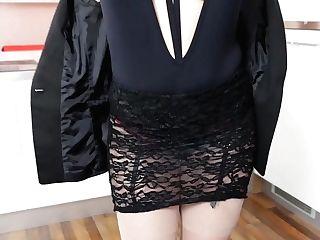Antonia Sainz In Gorgeous Stockings Does Fucking Hot Striptease