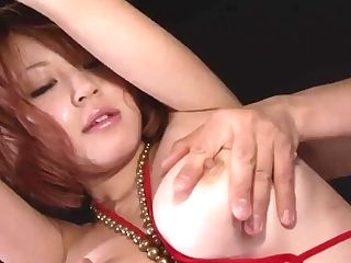 Buxom Stunner In Taut Crimson Bathing Suit Undressing Off And Toyed - More At Japanesemamas.com